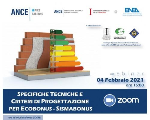 Specifiche tecniche e criteri di progettazione per Ecobonus/Sismabonus