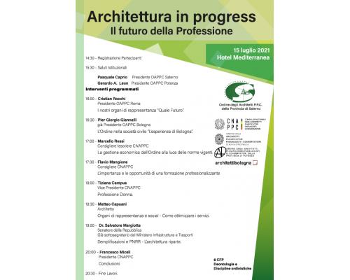 ARCHITETTURA IN PROGRESS IL FUTURO DELLA PROFESSIONE