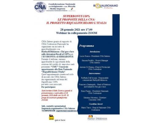 Superbonus 110%. Le proposte della CNA: il progetto riqualifichiamo l'Italia